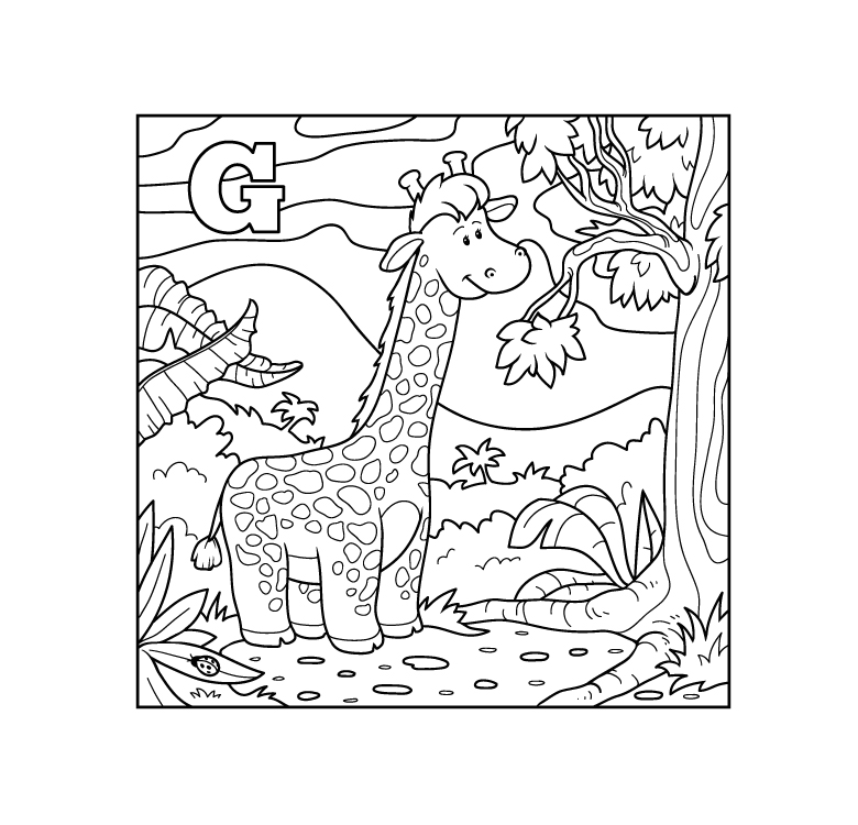 doodle animal alphabet